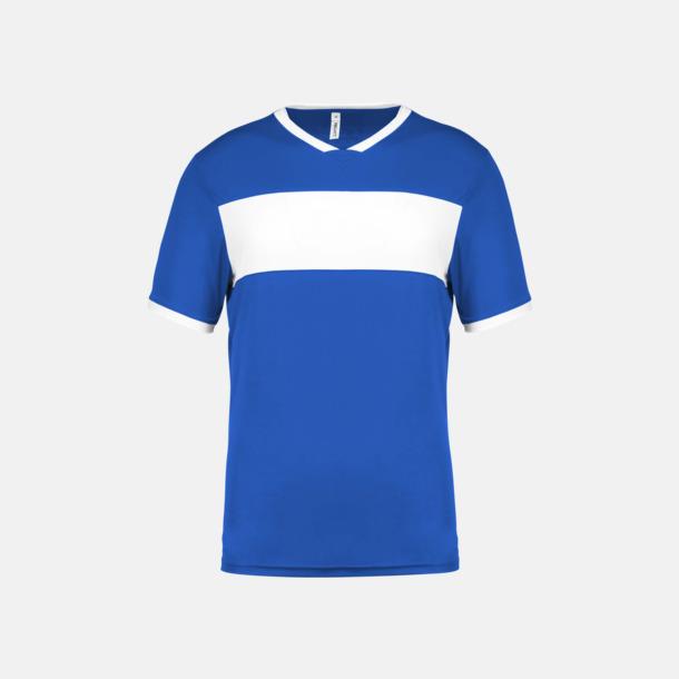 Sporty Royal Blue/Vit Lag t-shirts i funktionsmaterial med reklamtryck