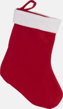 Klassiska julstrumpor med reklamtryck
