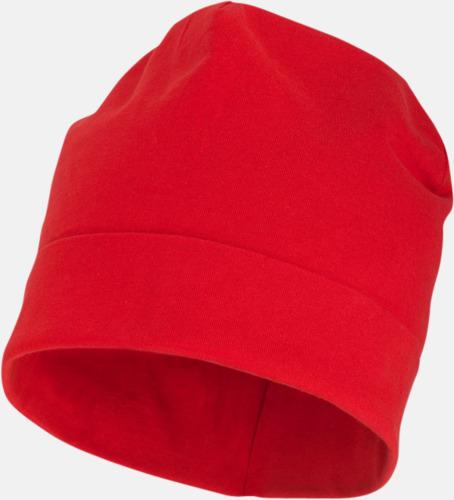 Röd Dubbellagrig beanie med reklamtryck