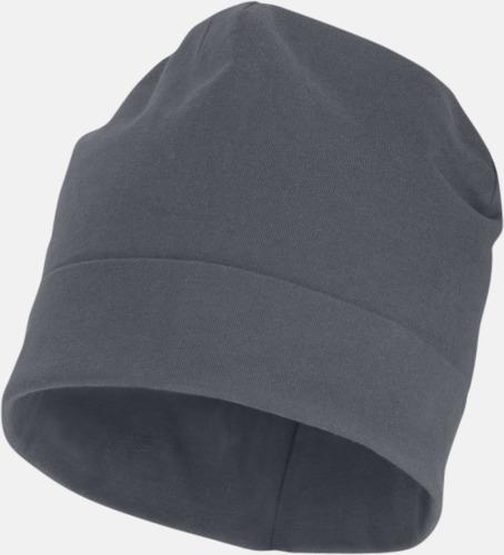 Steel Grey Dubbellagrig beanie med reklamtryck