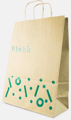 Papperspåsar i ekomaterial med reklamtryck