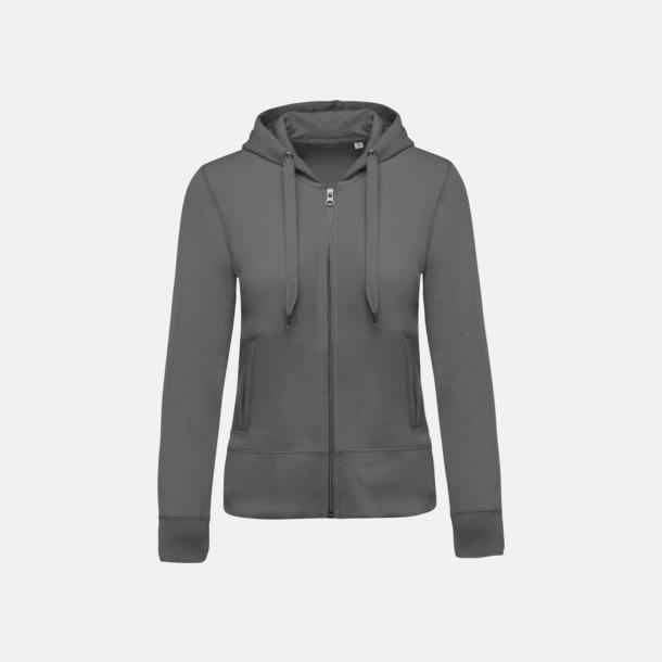Storm Grey (dam) Blixtlåsförsedda eko hoodies med reklamtryck