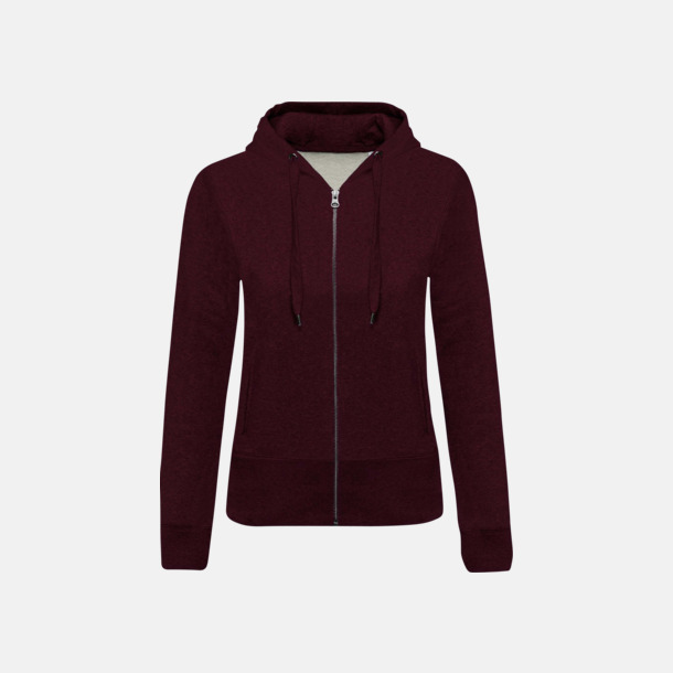 Wine Heather (dam) Blixtlåsförsedda eko hoodies med reklamtryck
