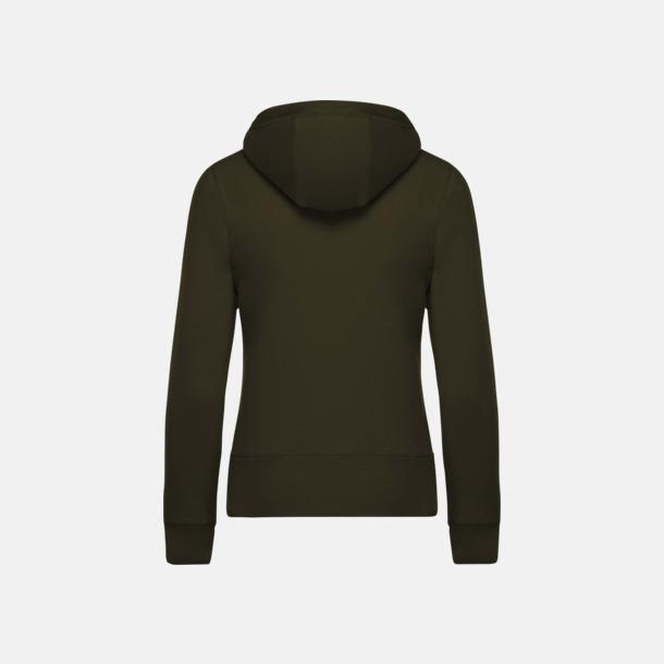 Blixtlåsförsedda eko hoodies med reklamtryck