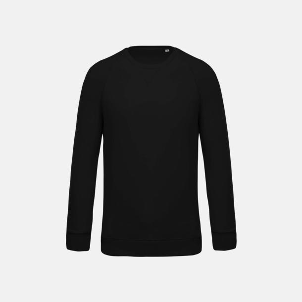 Svart (herr) Sweatshirts i eko-bomull med reklamtryck