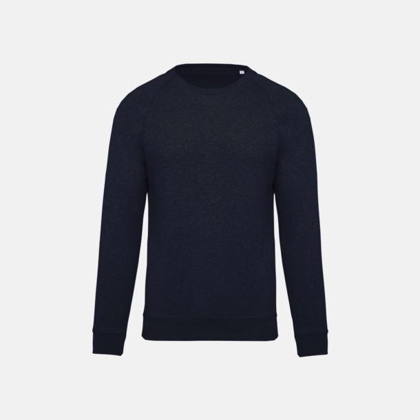 French Navy Heather (herr) Sweatshirts i eko-bomull med reklamtryck