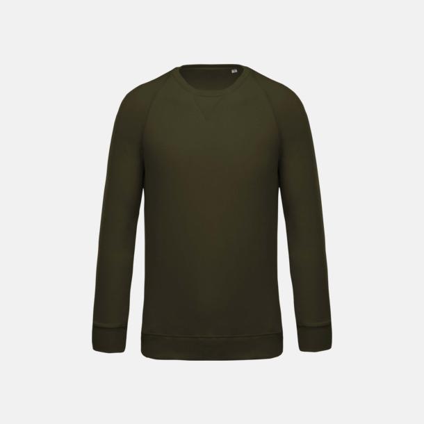 Mossy Green (herr) Sweatshirts i eko-bomull med reklamtryck