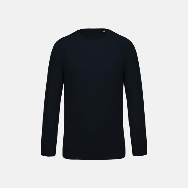 Marinblå (herr) Sweatshirts i eko-bomull med reklamtryck