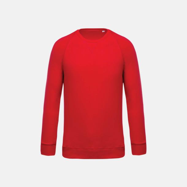 Röd (herr) Sweatshirts i eko-bomull med reklamtryck