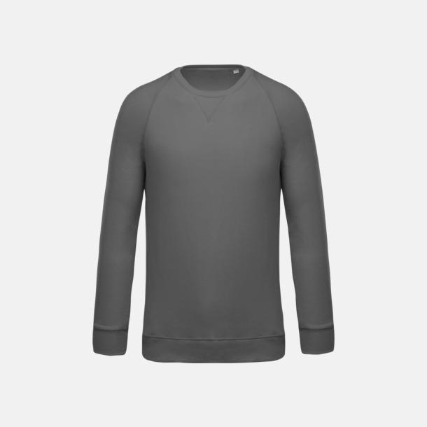 Storm Grey (herr) Sweatshirts i eko-bomull med reklamtryck