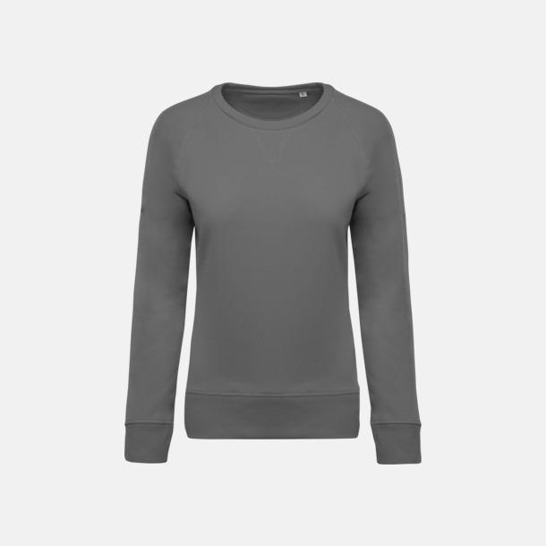 Storm Grey (dam) Sweatshirts i eko-bomull med reklamtryck