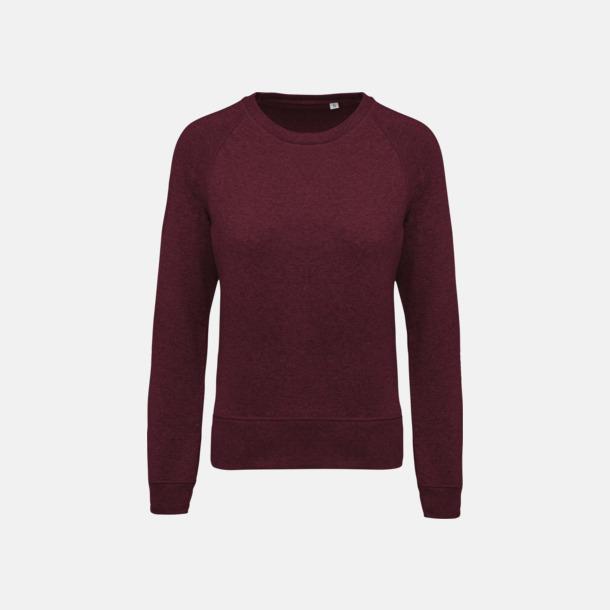 Wine Heather (dam) Sweatshirts i eko-bomull med reklamtryck