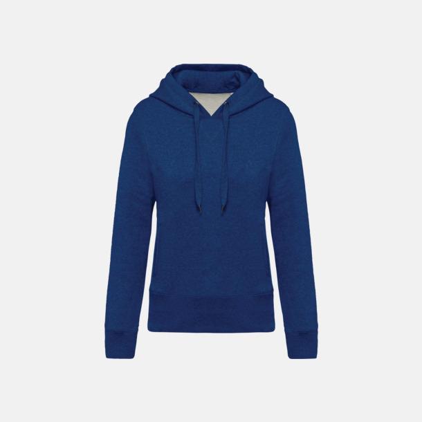 Ocean Blue Heather (dam) Huvtröjor i eko-bomull med reklamtryck