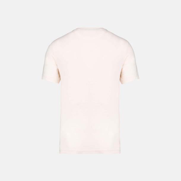 Eko t-shirts med kontrastficka med reklamtryck