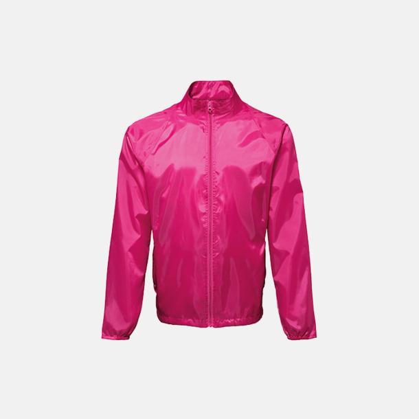 Hot Pink Billiga lättviktsjackor med reklamtryck