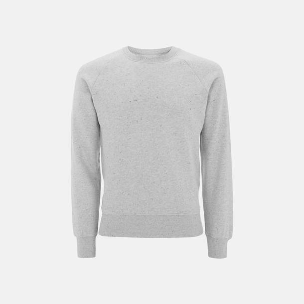 Grey Marl Eko unisex sweatshirts med reklamtryck
