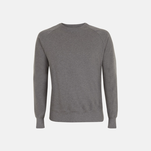 Dark Heather Eko unisex sweatshirts med reklamtryck