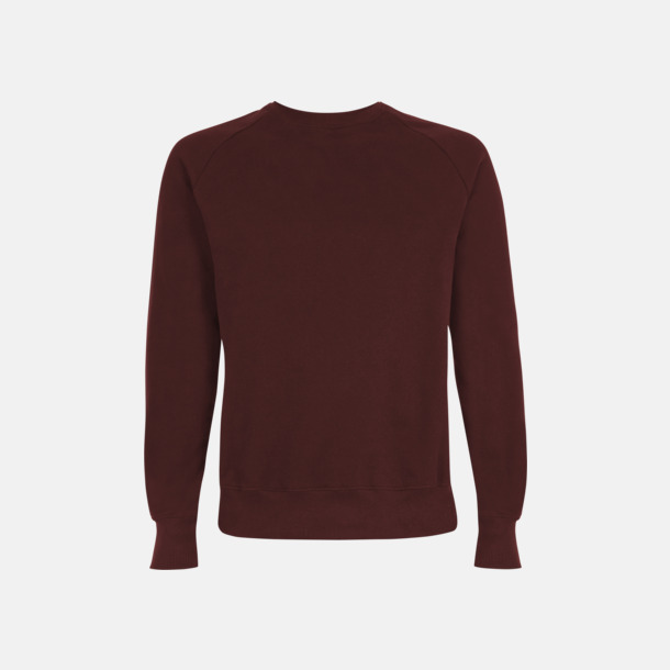 Burgundy Eko unisex sweatshirts med reklamtryck