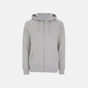 Blixtlåsförsedda eko unisex hoodies med reklamtryck