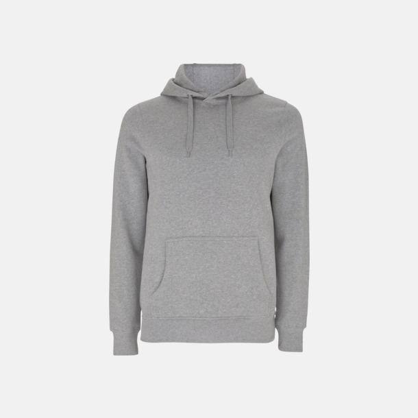 Melange Grey Eko pullover hoodies med reklamtryck