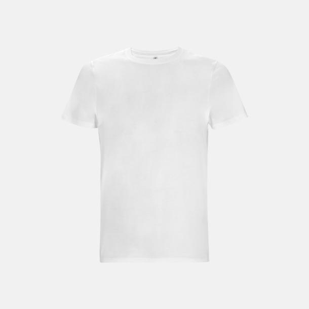 Vit (kortärmad) Unisex eko t-shirts med reklamtryck
