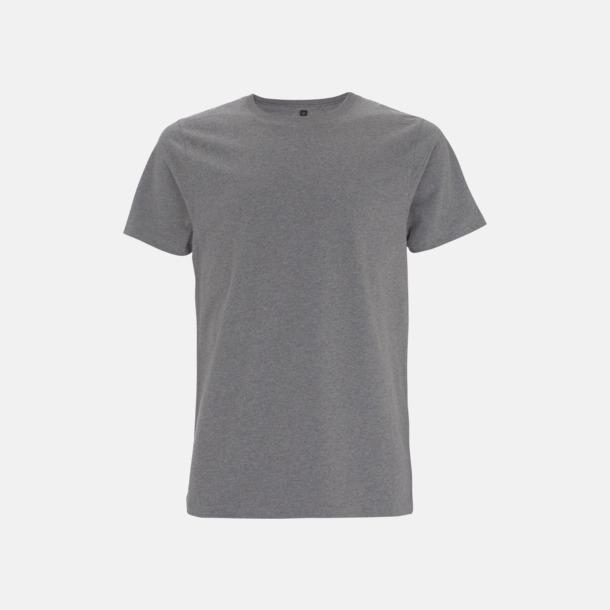 Melange Grey Unisex eko t-shirts med reklamtryck