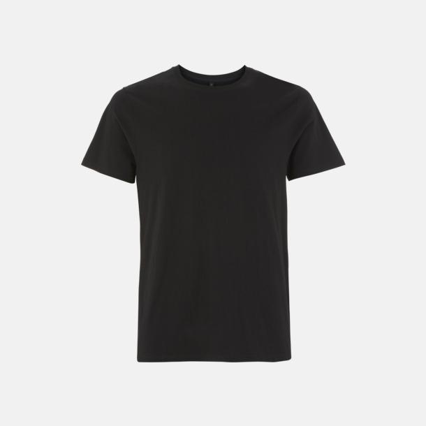 Svart (kortärmad) Unisex eko t-shirts med reklamtryck
