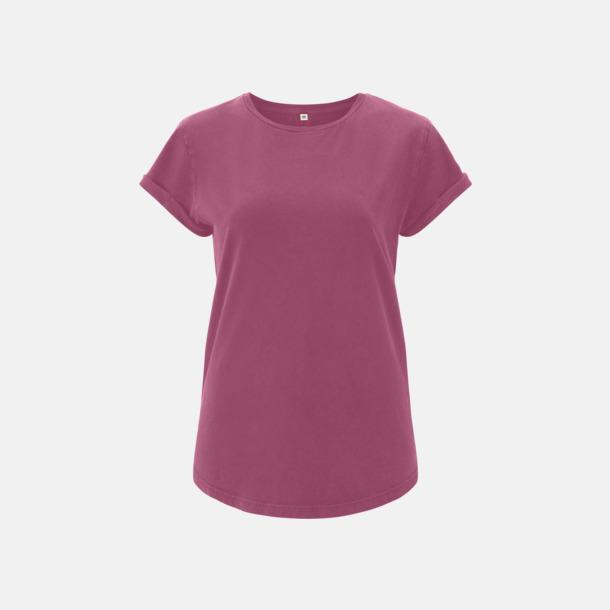 Berry Eko dam t-shirts med rullade ärmar - med reklamtryck