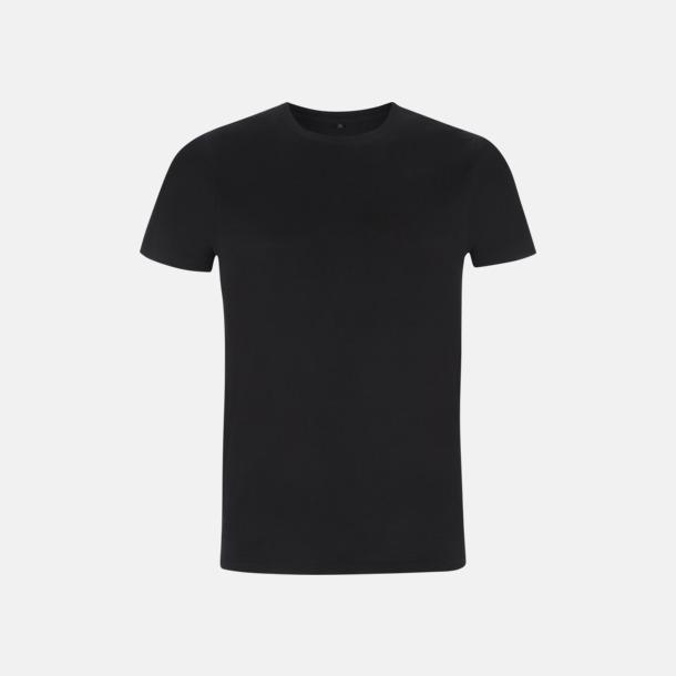 Svart Unisex eko t-shirt med reklamtryck