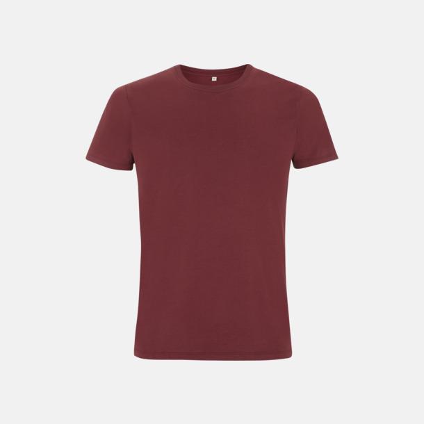 Burgundy Unisex eko t-shirt med reklamtryck