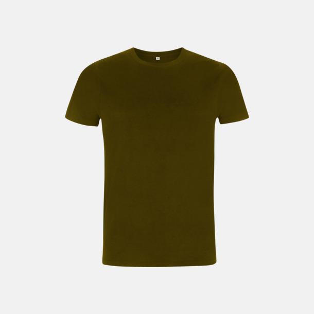 Khaki Green Unisex eko t-shirt med reklamtryck