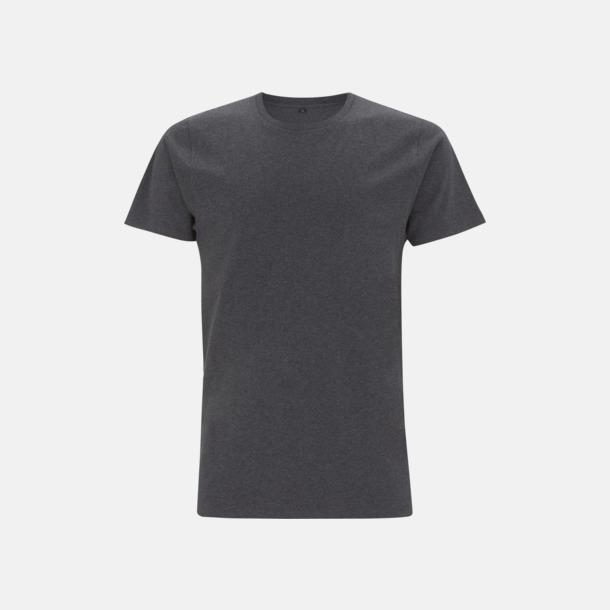 Melange Black Unisex eko t-shirt med reklamtryck