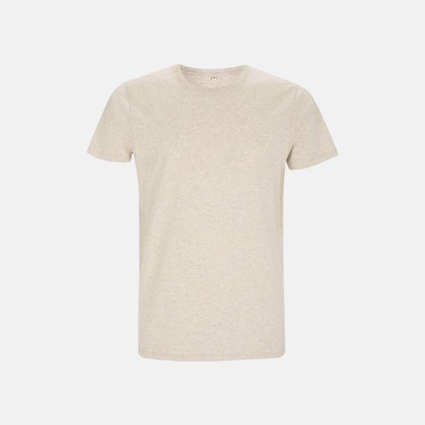 Melange Brown Unisex eko t-shirt med reklamtryck