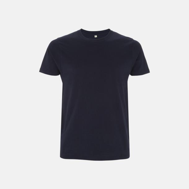 Marinblå Unisex eko t-shirt med reklamtryck