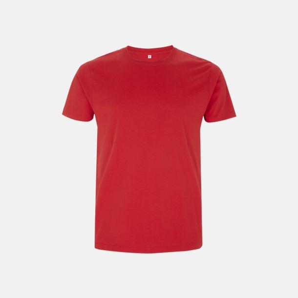 Röd Unisex eko t-shirt med reklamtryck