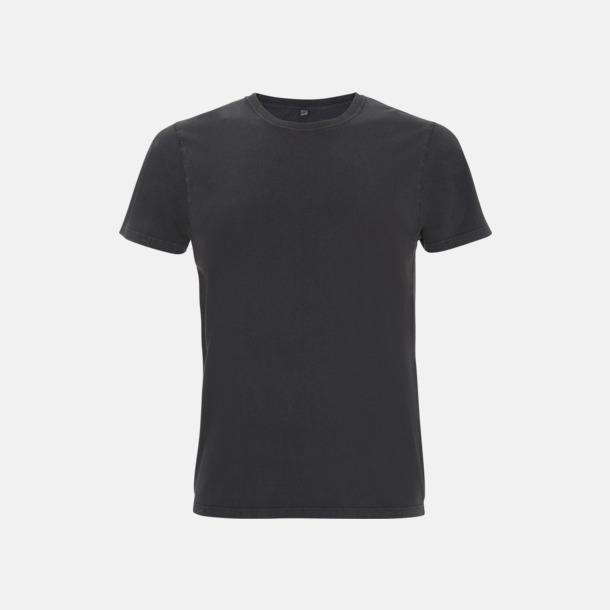 Stone Wash Black Unisex eko t-shirt med reklamtryck