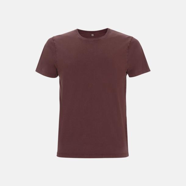 Stone Wash Burgundy Unisex eko t-shirt med reklamtryck