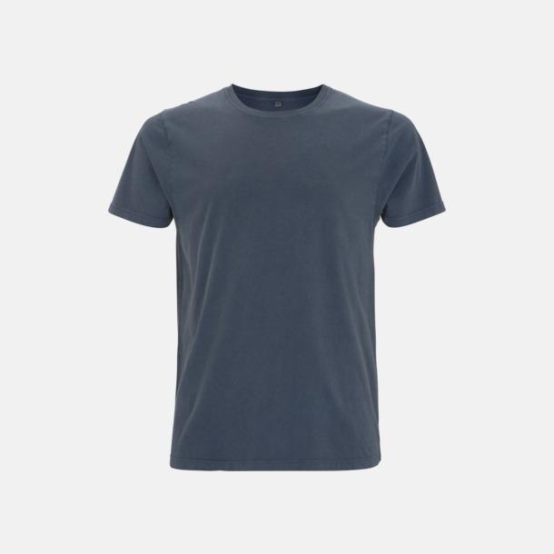 Stone Wash Denim Unisex eko t-shirt med reklamtryck