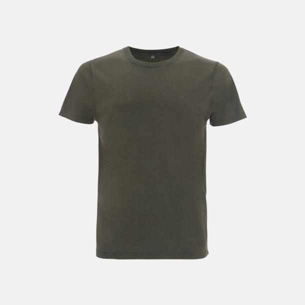 Stone Wash Green Unisex eko t-shirt med reklamtryck