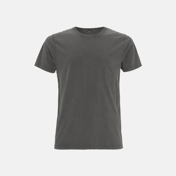 Stone Wash Grey Unisex eko t-shirt med reklamtryck