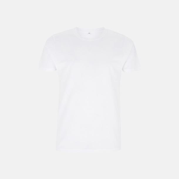 Vit Unisex eko t-shirt med reklamtryck