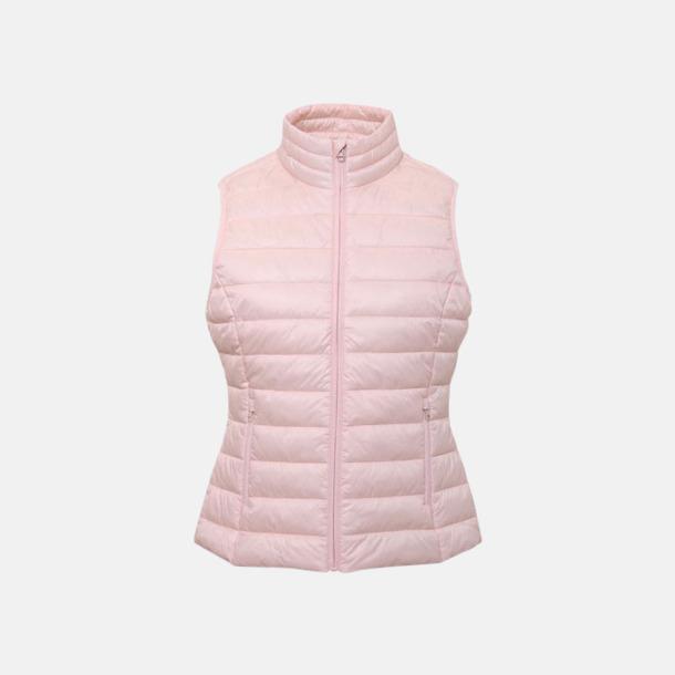 Cloud Pink Moderna dam bodywarmers med reklamtryck