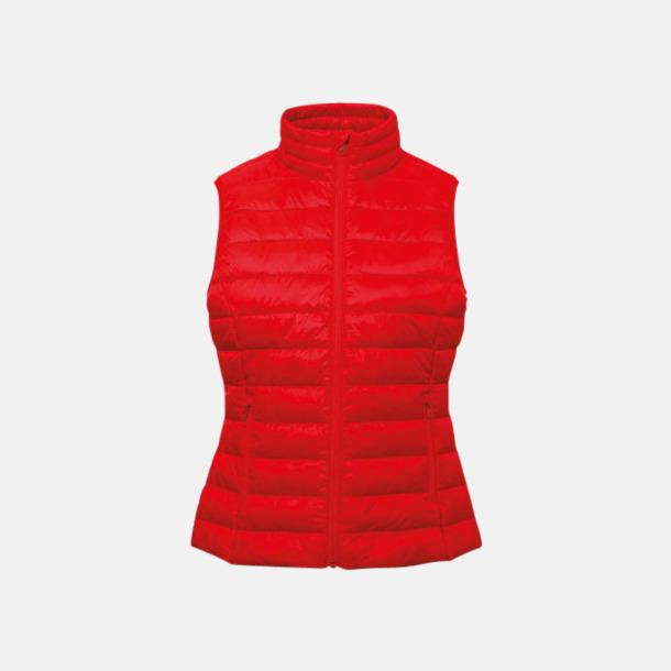 Röd Moderna dam bodywarmers med reklamtryck