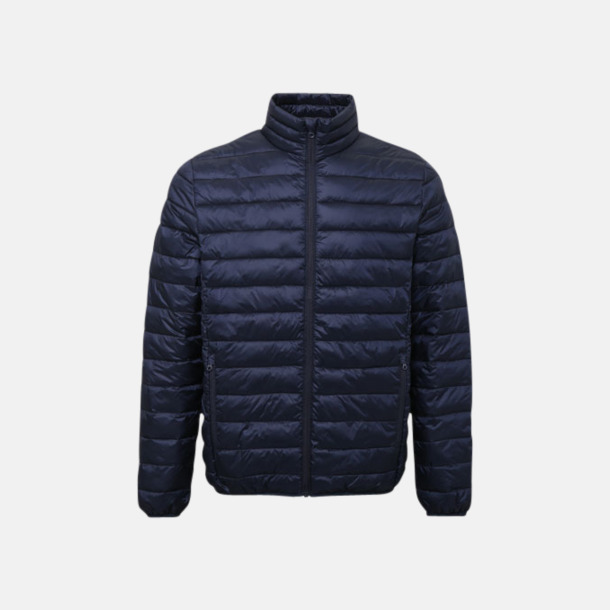 Marinblå (herr) Vadderade och fina jackor med reklamtryck