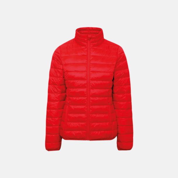 Röd (endast dam) Vadderade och fina jackor med reklamtryck