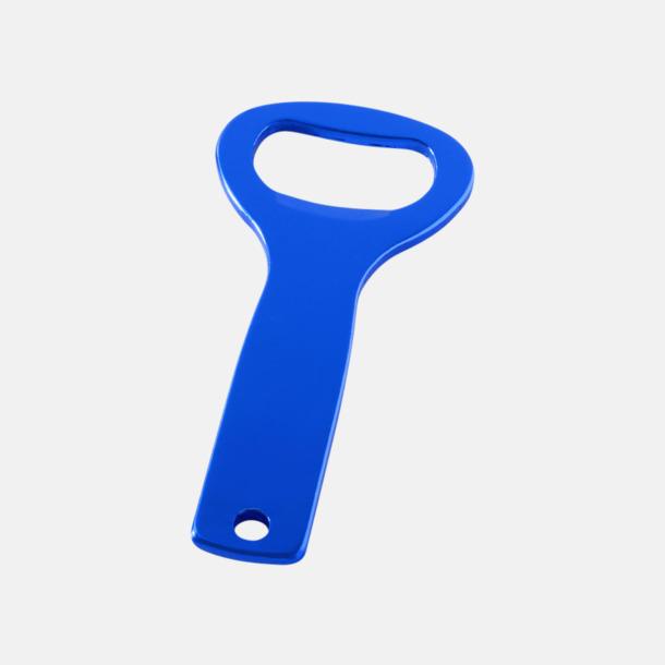 Blå Metall kapsylöppnare med egen logga