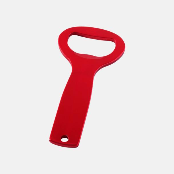 Röd Metall kapsylöppnare med egen logga