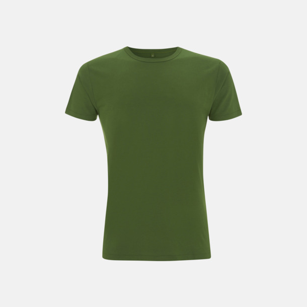 Leaf Green Herr t-shirts i bambu med reklamtryck