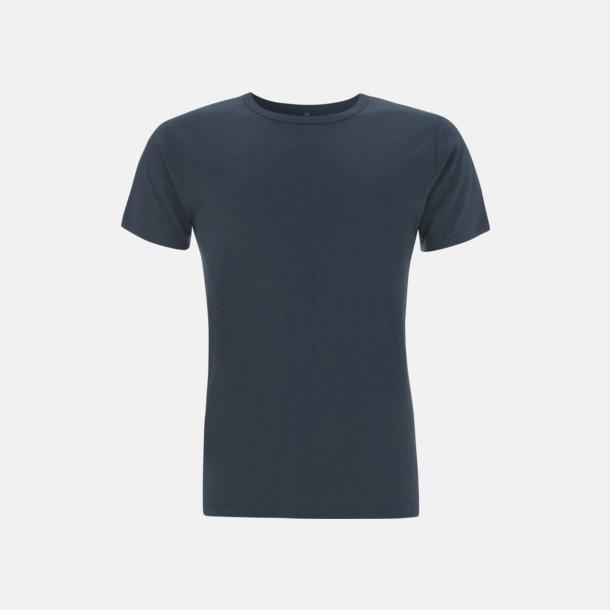 Denim Blue Herr t-shirts i bambu med reklamtryck