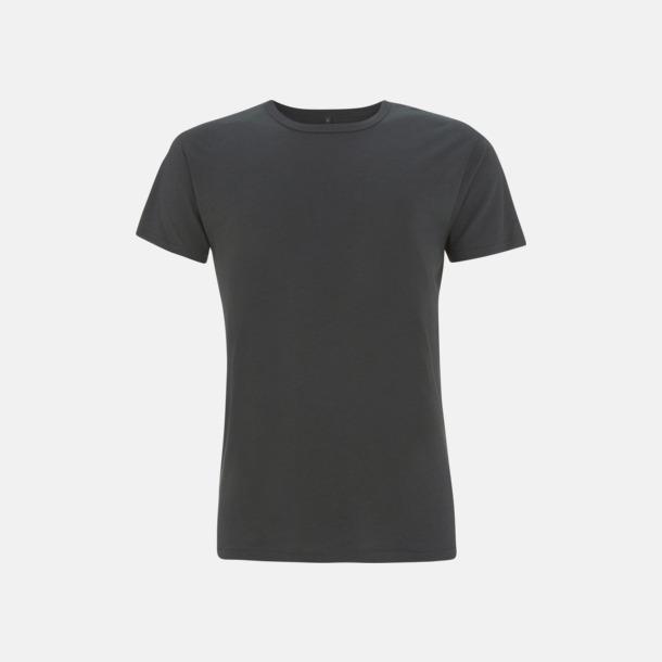 Charcoal Grey Herr t-shirts i bambu med reklamtryck